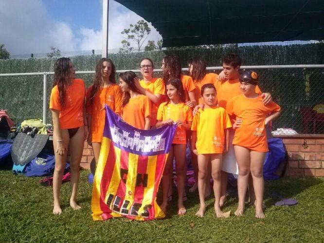 Natación con Aletas, campeonato de España Infantil- Cadete