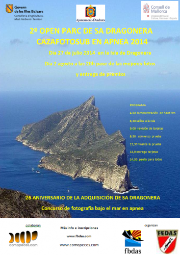 2º Open Cazafoto sub apnea Illa Dragonera 27 Julio 2014