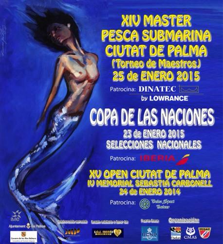 Exposición de tiendas y marcas durante la semana Master de pesca submarina