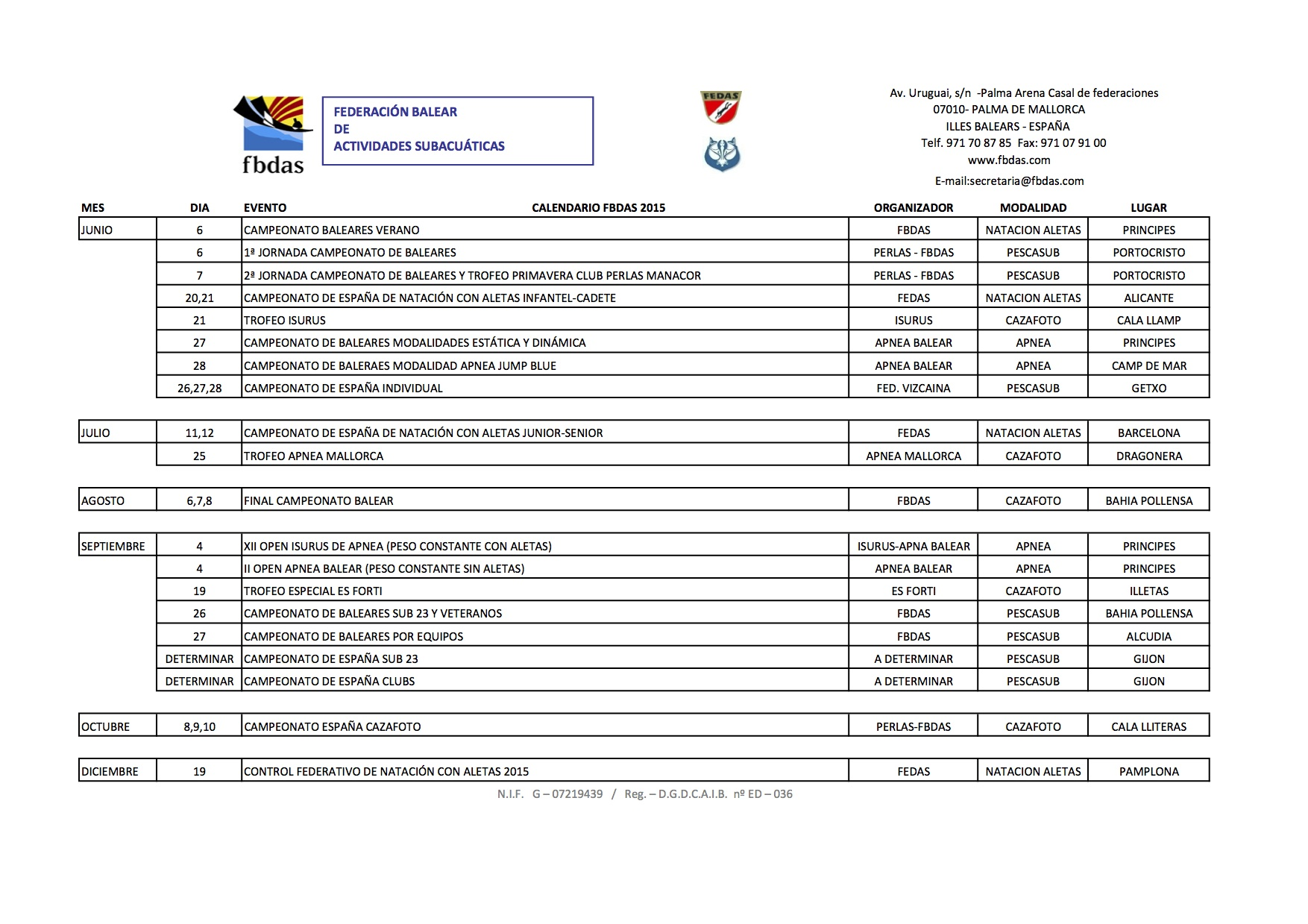 CALENDARIO 2015 GENERAL ULTIMO