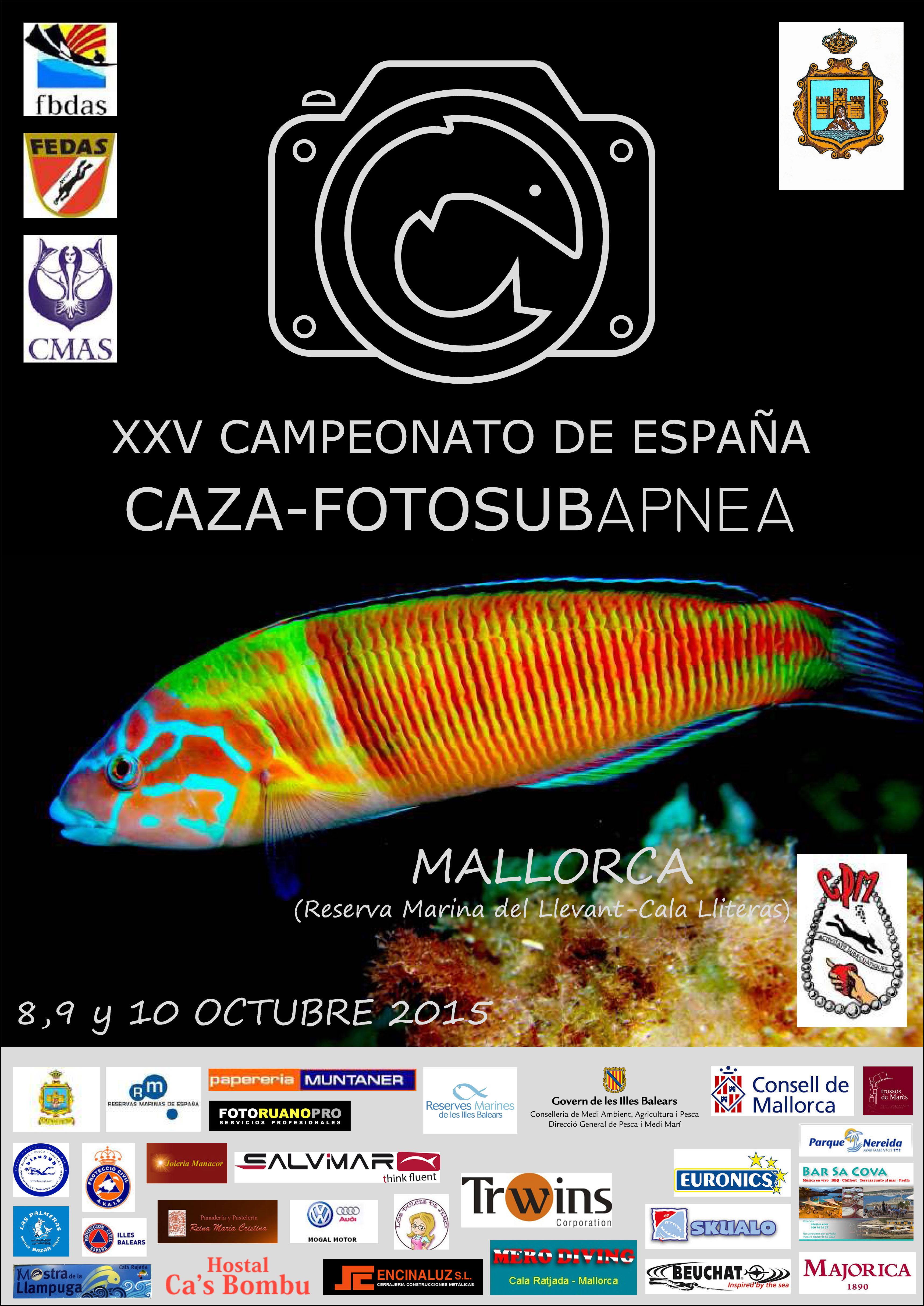 Caza-fotosubapnea: XXV campeonato de España