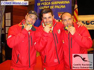 Victoria de España en la I CMAS World Cup