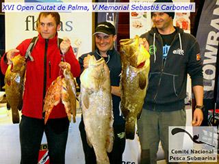 Óscar Cervantes, Raúl Astorga y Toni Trías ganan el XVI Open Ciutat de Palma, V Memorial Sebastiá Carbonell