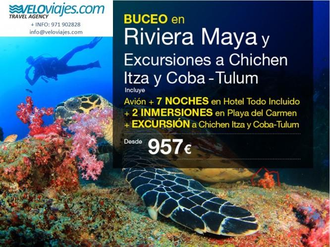Oferta Buceo en Riviera Maya