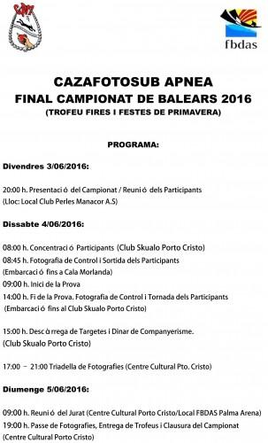 Cazafoto, FINAL CAMPEONATO DE BALEARES