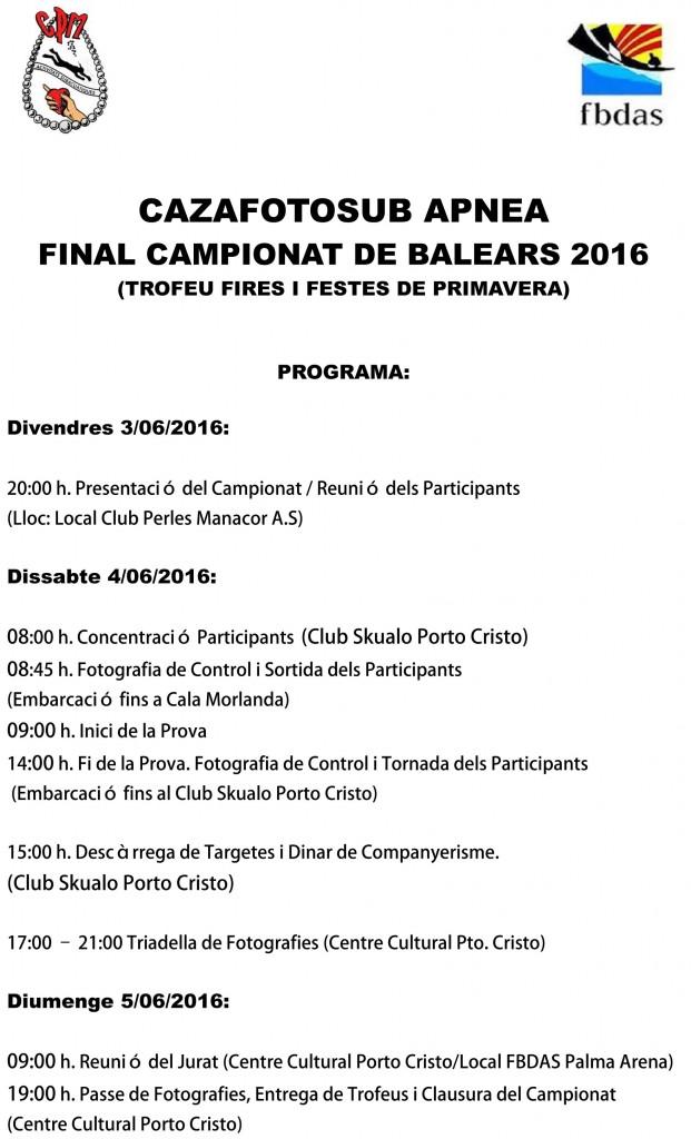 Programa Final Balears Cazafoto 2016-1