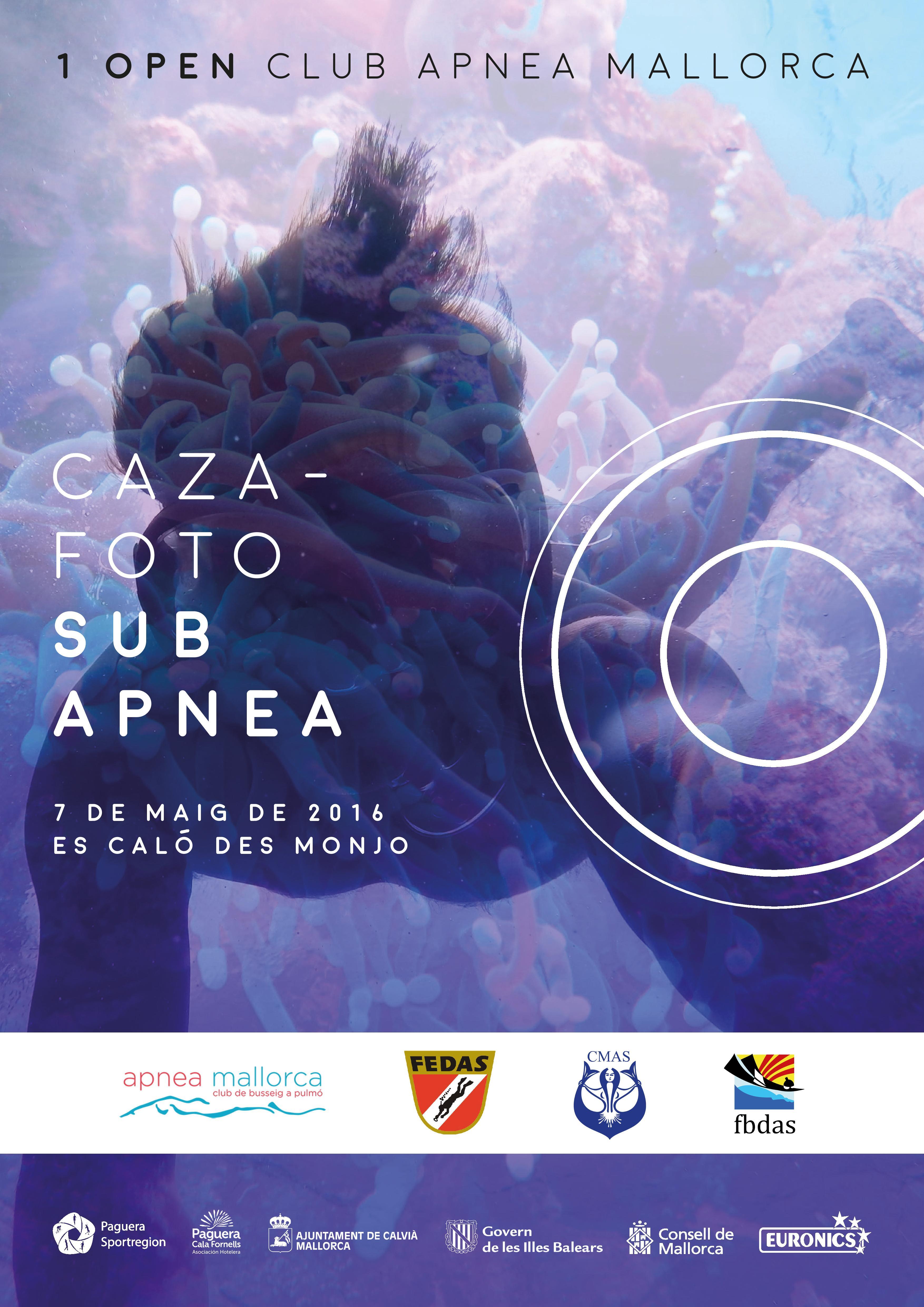 CAZAFOTOSUB APNEA, 1º Open Club Apnea Mallorca, 7 MAYO 2016