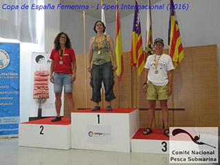 Rosa Mª González gana la Copa de España Femenina de Pesca Submarina y el I Open Internacional