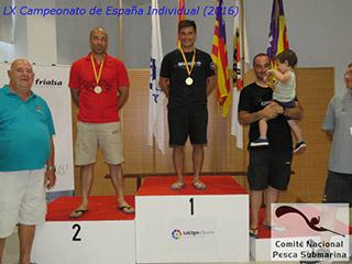 Óscar Cervantes gana el LX Campeonato de España Individual de Pesca Submarina