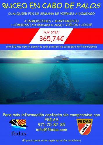 Oferta buceo para afiliados a FBDAS
