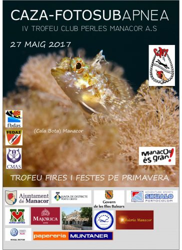 Cazafotosub apnea, IV Trofeo Club Perles Manacor