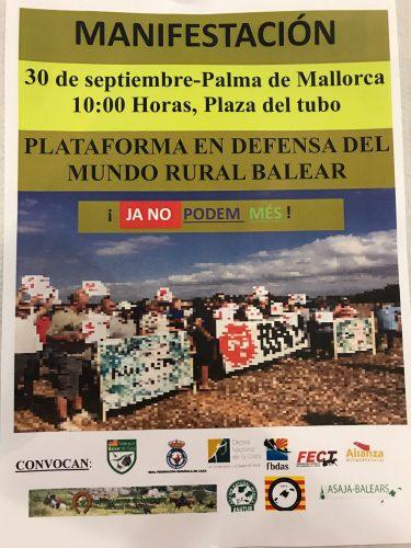 Manifestación 30 de septiembre a las 10h en Palma de Mallorca