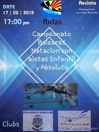 Natación con aletas: Campeonato Baleares Natación con aletas infantil y Absoluto