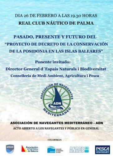 Conferencia pasado presente y futuro del proyecto de decreto de la conservación de la posidonia