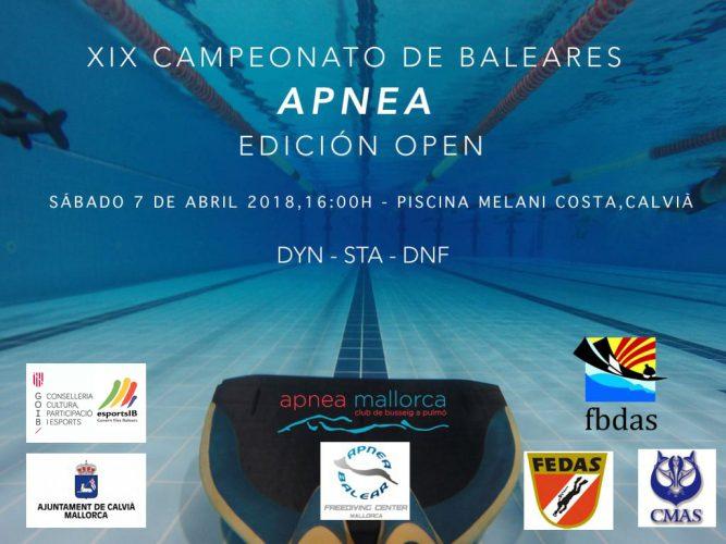 Apnea, XIX  campeonato de Baleares Apnea, edición Open