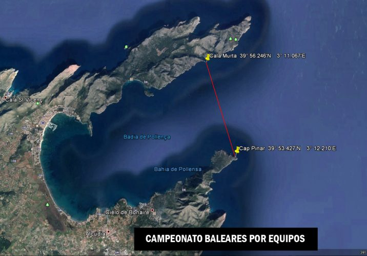 Pescasub, campeonato Baleares por equipos