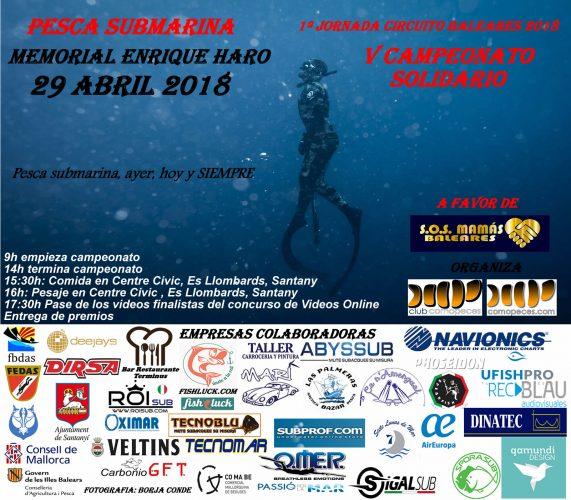 PESCASUB, 1º jornada circuito de Baleares 2018, Memorial Enrique Haro