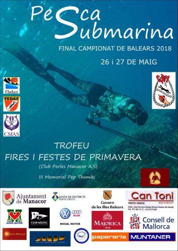 PESCASUB, Final campeonato de Baleares 2018