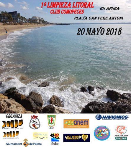 1º Limpieza de litoral en Apnea, playa Can Pere Antoni, Palma de Mallorca