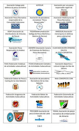 FBDAS apoya el comunicado conjunto de entidades del sector de la pesca recreativa y deportiva en España