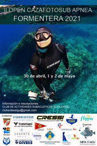 II open cazafotosub apnea Formentera 2021