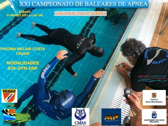 XXI Campeonato de Baleares de Apnea, Memorial David Cabrera