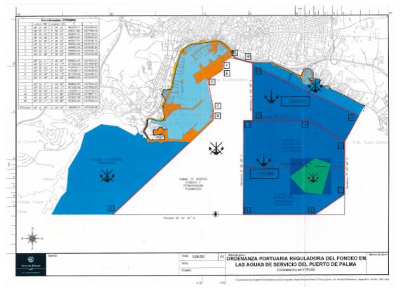 Ordenanza en aguas externas del Puerto de Palma